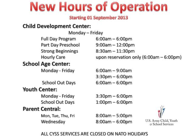 CYSS New operating hours