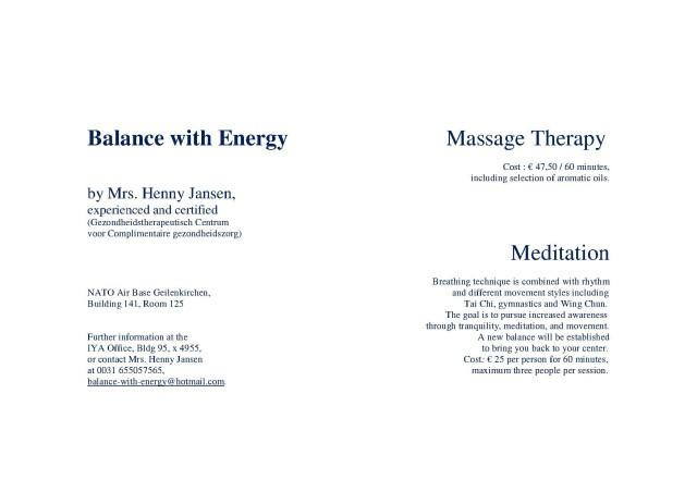 Balance with Energy