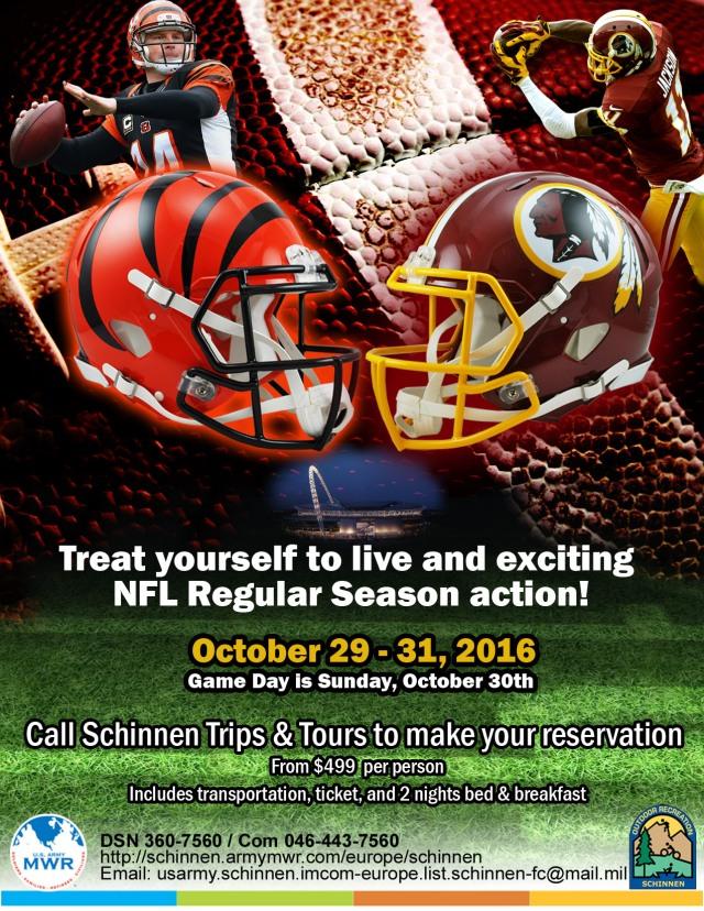 NFL in london 29-31 Oct 2016