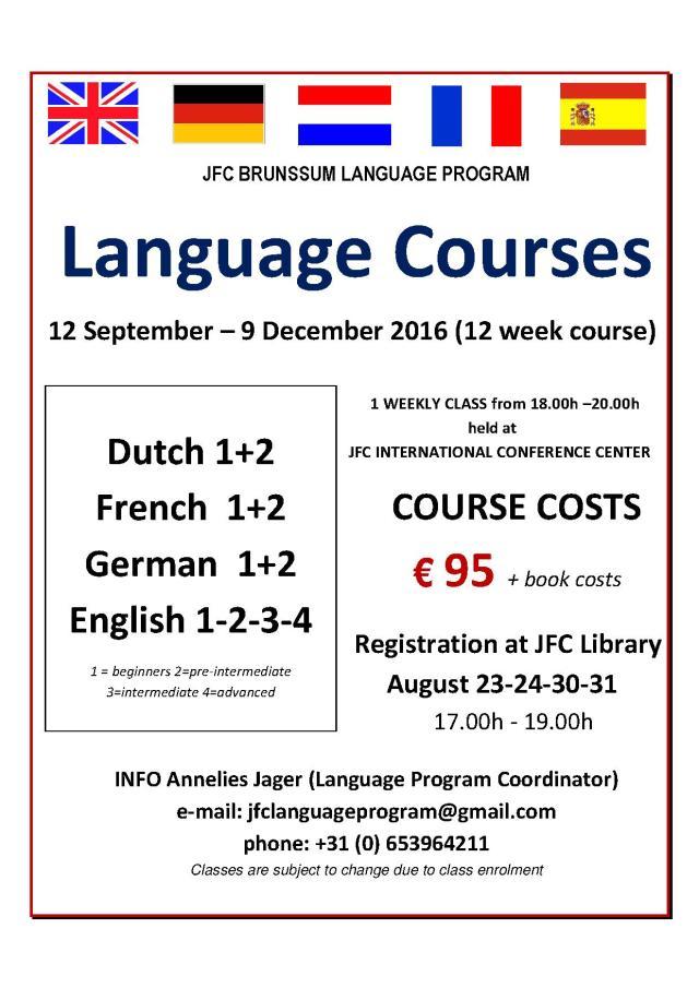 FLYER JFC BRUNSSUM LANGUAGE PROGRAM SEPTEMBER 2016